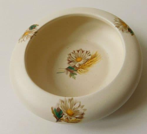 Purbeck Ceramics ashtray or pin dish Flowers Corn vintage English pottery